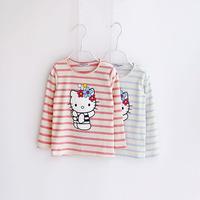 Children's clothing child t-shirt female child T-shirt long-sleeve shirt 2014 autumn t-shirt 100% cotton