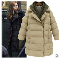 new women's winter coat to keep warm Europe and America style long section thick cotton padded large size