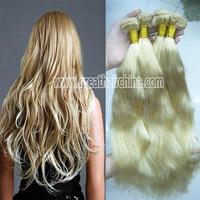 "Slavic Blonde Natural Wave Hair Extension, 16""-26"" 613# Pelo Humano Hair Weaving 3 Piece/Lot, Free Shipping"
