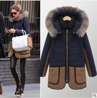 jaqueta feminina Female Down Fur Parka 2014 Design Women Long-sleeve Winter Zipper Jackets Female Coat Woman's Clothing Outwear