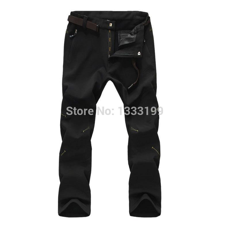 Outdoor waterproof windstopper pants men,Softshell Fleece Keep warm Riding Skiing Snowboard Pants Trousers free shipping(China (Mainland))