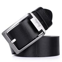 Tidal current male strap hasp fashion genuine leather belt casual vintage men's belt