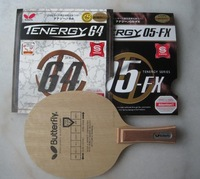Butterfly Korbel Butterfly Table Tennis Blades / paddle + Tenergy 64 +05 FX Butterfly Table Tennis Rubber complete assembly