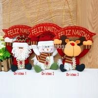 Free Shipping 10pcs Santa Claus Snowman Decoration Hanger dolls Merry Xmas Tree Decoration Home Wall Decor new year's toys 36228