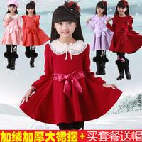 The autumn / winter 2014 new girl dress children princess  Korean girl dancing dress