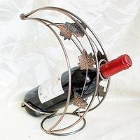 Tan, wrought iron wine frame, supply the moon type Wholesale wine rack TYJJ - 003