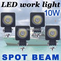 4x10W Round CREE LED Work Light Bar Spot 800LM Driving Reverse 4WD Lamp 12V 24V