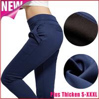Women harem pants calcas femininas 2014 new casual autumn winter loose pants plus size xxxl warm jeans thick sport trousers K30
