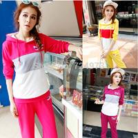 Candy style hot sale women plus size clothing set tracksuit for women,mix colors design jogging suits sportswear female
