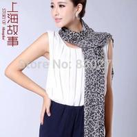 Shanghai Story   female  Mini Leopard pure wool warm scarf