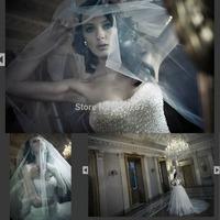 2015 Design Sweetheart Wedding Dresses Crystal Ball Gown Bridal Dress Chapel Train Vestido De Noivas