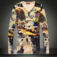 Fashion 2014 new design men fashion velvet long sleeve tshirt mens T-shirts t shirt man hot sale N-5