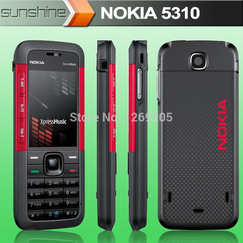 Original Nokia 5310 XpressMusic Cell Phones Nokia 5310XM FM Camera GSM Bluetooth GPRS Mobile Phones(China (Mainland))