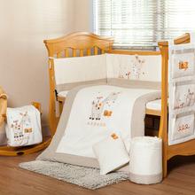 Baby cot bedding set to.us bear new , including crib sheet, crib bumper, baby pillow, quilt 120*60  140*70(China (Mainland))