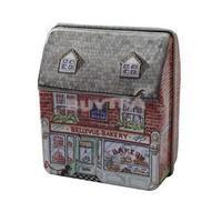 2014 New FA Convenient Fashion Mini dream Vintage House Tinplate Storage Tin Box Coin Bag Jewelry Box AF