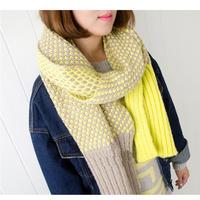 Women New Fashion Knitted Adult Color  Patchwork Unisex Autumn Winter Scarves Scarf Wraps Envoltorios Hijab Bufandas 1SC888