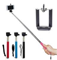 Extendable Self Selfie stick Handheld Monopod +Clip Holder  for iPhone Samsung gopro digital camera