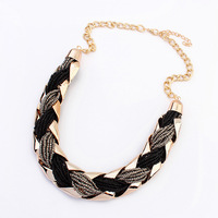 New fashion 18K gold necklace woman selling Bohemian OL beads whip chain necklace 107215
