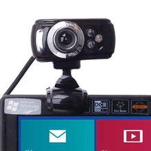 usb 50 megapixel hd webcam web cam & microfono mic 3 led pc laptop skype trasporto libero L0192603(China (Mainland))