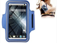 wholesale pu sport armband cover case with earphone hole key pocket for samsung galaxy s5 g900 / htc one / m7
