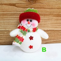 Free Shipping 10pcs Christmas Tree Decorations Santa Claus and Snowman New Year 's toys Hanger dolls xmas Party Decorations28212