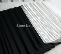 Small MOQ custom made plain hang tag black paper white paper  free shipping