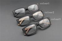 Vintage Acetate prescription eyeglasses Frame Full Rim Cat Eye for man women fashion optical myopia  frame eyewear Wooden  65013