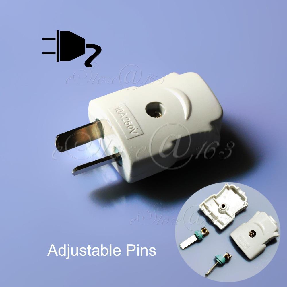 Электрическая вилка 2Pins Adjustable Plug 5 x /250 10 2500W AU DIY