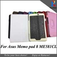 For Asus Memo Pad 8 ME581CL PU leather stand case,ME581 PU Leather protective cover,10 color,free shipping