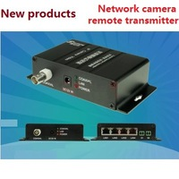 HD camera network coaxial transmitter extender  Elevator monitoring  4 network port  A network cable pass