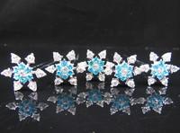 10 Pcs 2014 New  Movie Anime Snowflake Style Frozen Princess Snow Queen Elsa Hair pins Free Shipping