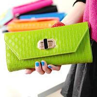 Black diamond lockbutton knitted chain day one shoulder clutch wallet women's handbag