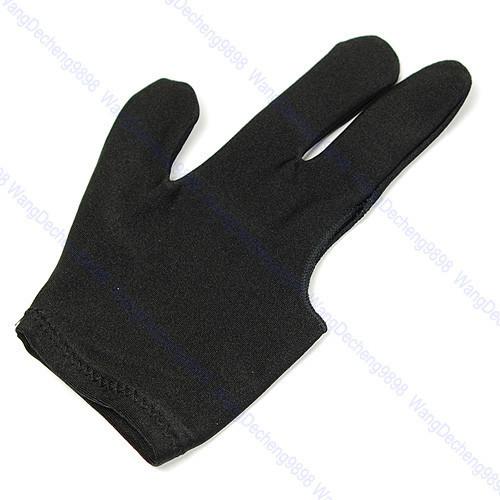 E93 Free Shipping 5pcs/lot Cue Billiard Pool Shooters 3 Fingers Gloves Black(China (Mainland))