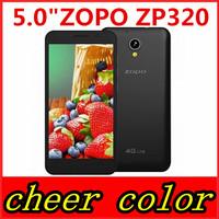New ZOPO ZP320 320 4G LTE Mobile Phone Quad Core MTK6582M 1.3GHz 5.0 inch 960X540 IPS Screen 1GB RAM 8GB ROM 2300MAH