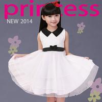 Children's wear children's autumn / winter 2014 new girls dress  of big girl princess  female baby dress