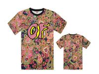 2015 free shipping Odd future clothing ofwgkta golf wang wolf gang hiphop black t-shirt short-sleeve