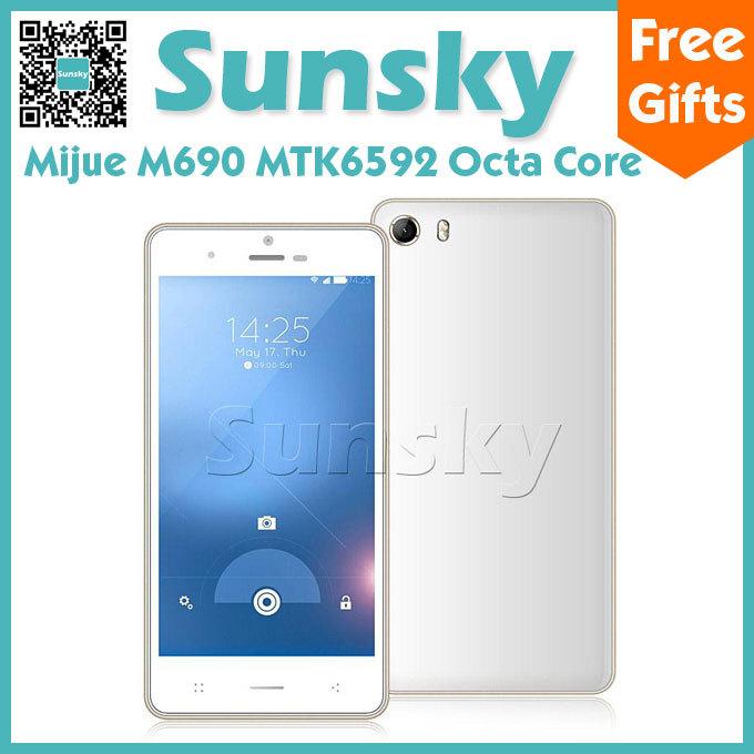 Мобильный телефон MIJUE M690 MTK6592 5,0 IPS HD Android 4.4 1 8 8MP 3G OTG мобильный телефон huawei 3 x pro g750 2 8 5 5 ips mtk6592 13 0mp wcdma