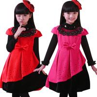 11-12-13-14-15 year old girl dress 2014 autumn and winter big children dress  child princess