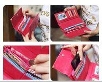 Hot SalING  Fashion Lady Retro  Clutch Wallet Simple Long Card Holder Bag
