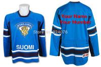 SUOMI Team Finland IIHF Swift Replica Blue Hockey Jerseys - Custom Your Name & Number XXS-6XL