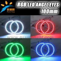 Factory supply Hot sale 100mm universal use 5050 SMD RGB LED angel eyes ring, 36SMD 100mm full circle RGB led angel eyes