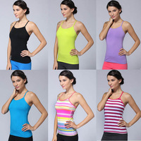 free shipping 2014 Hot Sell Colorful Lulu Tops Brand Women's Casual Yoga Tanks Sexy Lady Comfy Lulu Gym Raceback Vest Sportswear