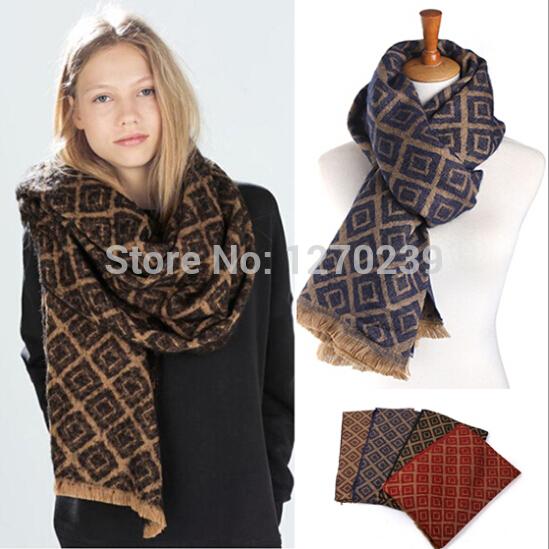WJ64 Brand Scarf!Latest 2014 Unique Tartan Plaid Scarf Women Imitation Cashmere Scarves Winter Blanket Shawl Pashmina(China (Mainland))