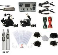 Free shipping Complete 2 Machine Tattoo Kit Machines Guns Equipment Ink Gun Set Tatoo