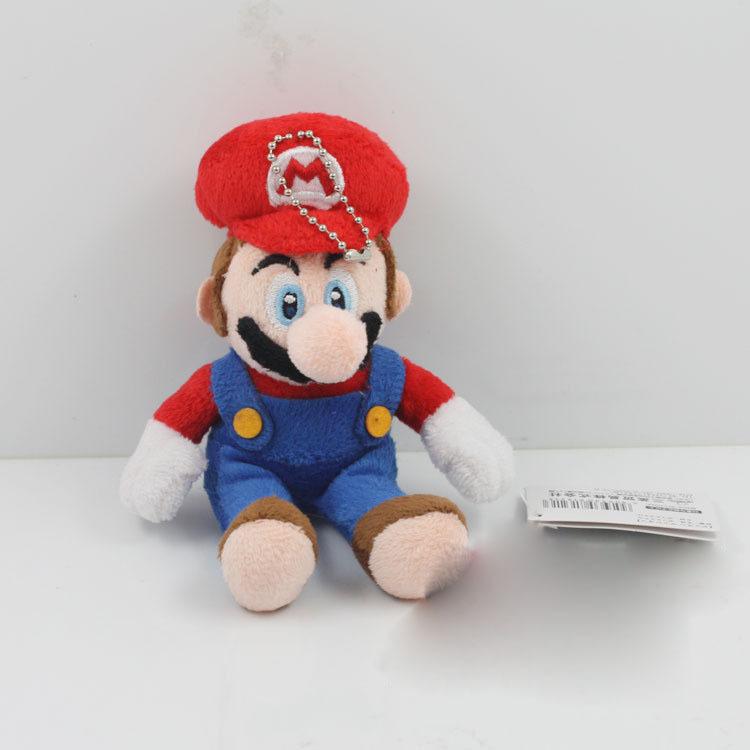 1 ШТ. Симпатичные Super Mario Bros. Sitting MARIO & LUIGI Плюшевые Игрушки Куклы 11 см Новый Оптовый Бесплатная Доставка