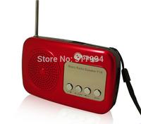 Free shipping dual band rechargeable portable mini pocket digital AM FM radio with USB port TF / SD /MMC card slot