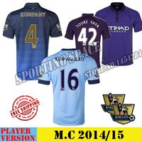 2015 1415 Camisa Manitychester City Football jerseys players 18 LAMPARD 16 KUN AGUERO soccer shirt jersey 2015