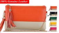 2014 New Crocodile Genuine Leather Women Day Clutch Tassel Handbags Panelled Chain Shoulder Bag Women Clutch BH-28 Free Shipp