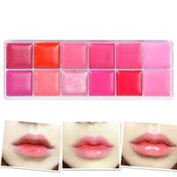 12Color New Waterproof Makeup Glitter Moisture Lipstick Lip Gloss Palette Set  #67772