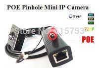 Free Shipping H.264 ONVIF 1280*720P HD Megapixel Indoor Security Mini POE IP Camera Hidden 720P Mini Netword POE Pinhole Camera